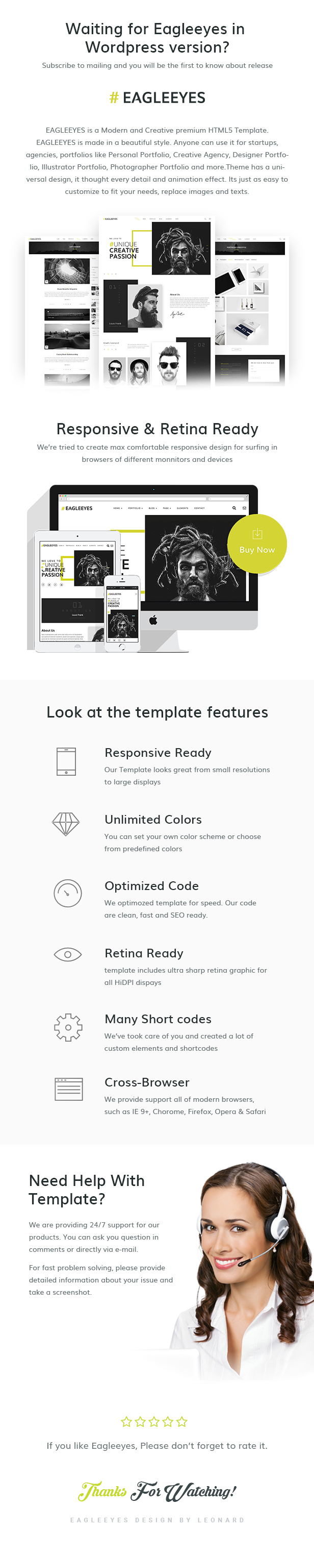 EAGLEEYES - Creative multipages and One page HTML5 Template - 2